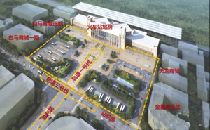 合肥火车站站前广场将打造立体换乘枢纽