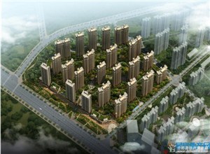 中国铁建国际城:95平米四房户型 均价7700