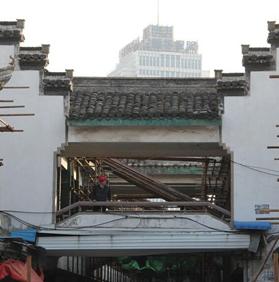 合肥大建设:城隍庙立面改造动工