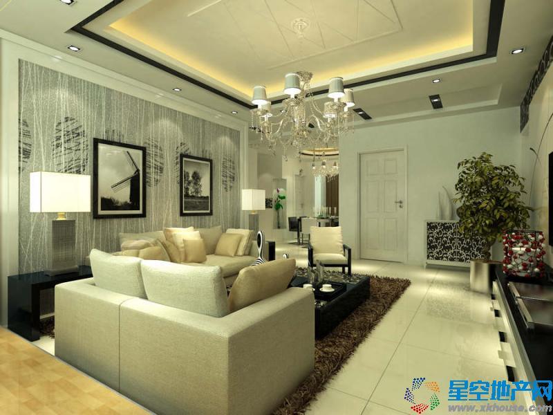 90平米平米两室一厅欧式装修效果图
