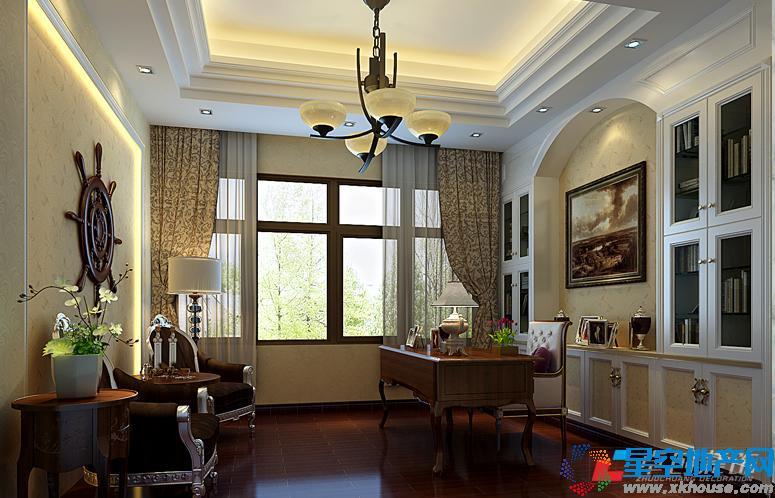 欧式客厅电视墙效果图暖色系壁纸