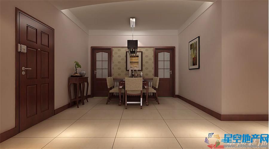 139平米 餐厅装修设计 中式古典 高清图片
