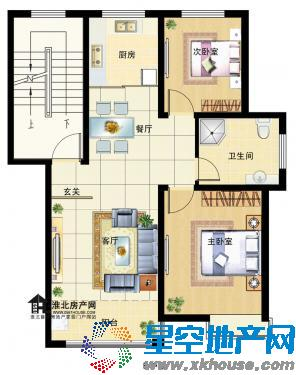 安农大第五宿舍 T3室2厅55万元出售图片