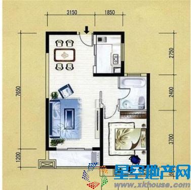 佳境枫情苑 1室 1厅65平方米 佳境枫情苑 二手房1室1厅65 平方米