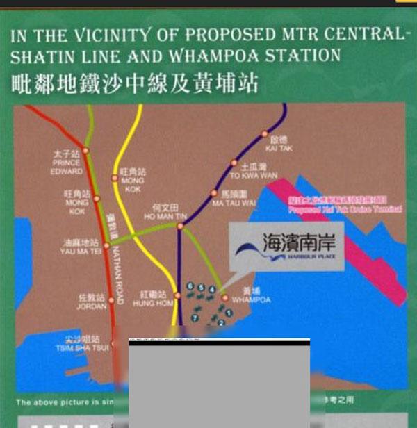 海濱南岸交通图