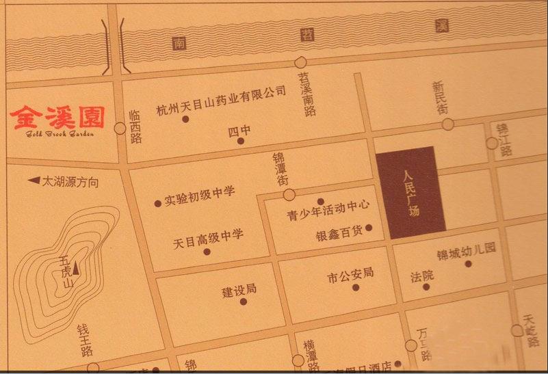 金溪园交通图