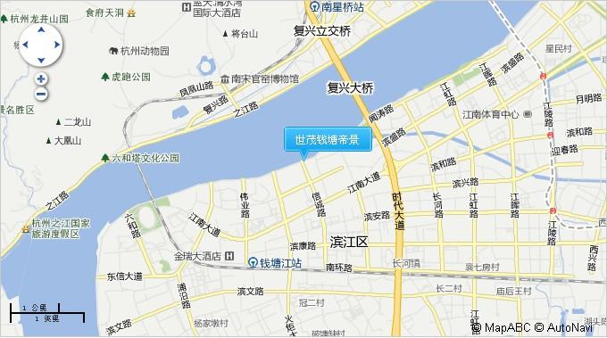 世茂钱塘帝景交通图