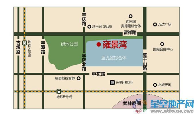 雍景湾交通图