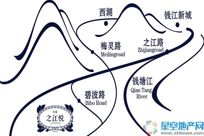 大家之江悦交通图