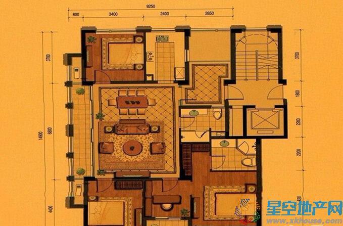 平瑞瑞和园四室二厅二卫