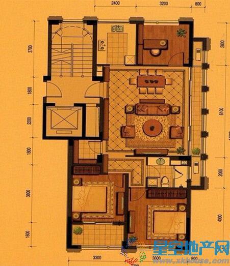 平瑞瑞和园三室二厅一卫