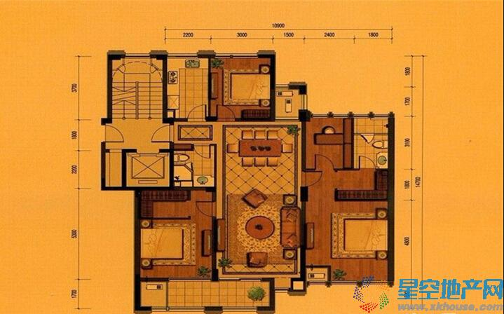 平瑞瑞和园三室二厅二卫