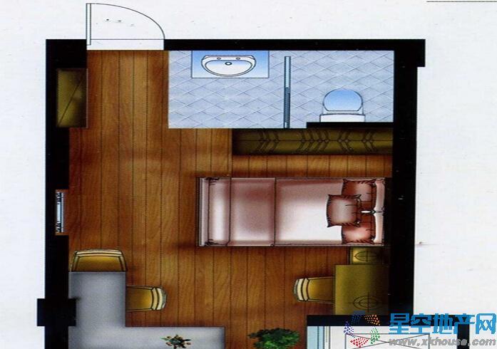 金顺锦绣时代一室一厅一卫
