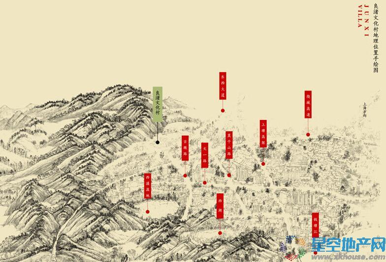 万科良渚文化村郡西交通图