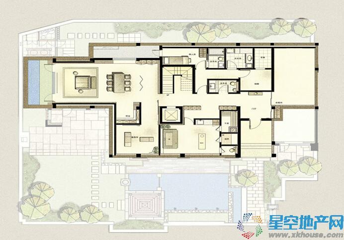 万科良渚文化村郡西五室以上三厅三卫