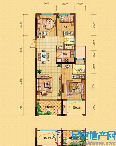 中国铁建·青秀城三室二厅二卫