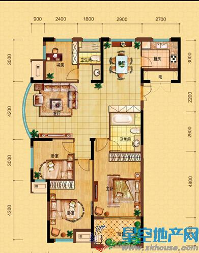 中国铁建·青秀城四室二厅二卫
