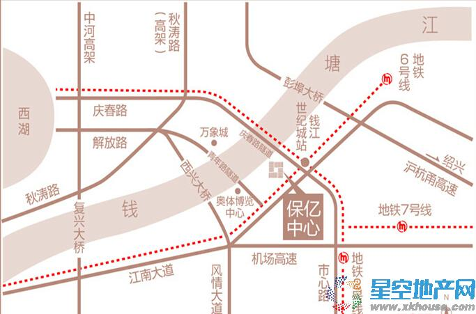 保亿中心交通图