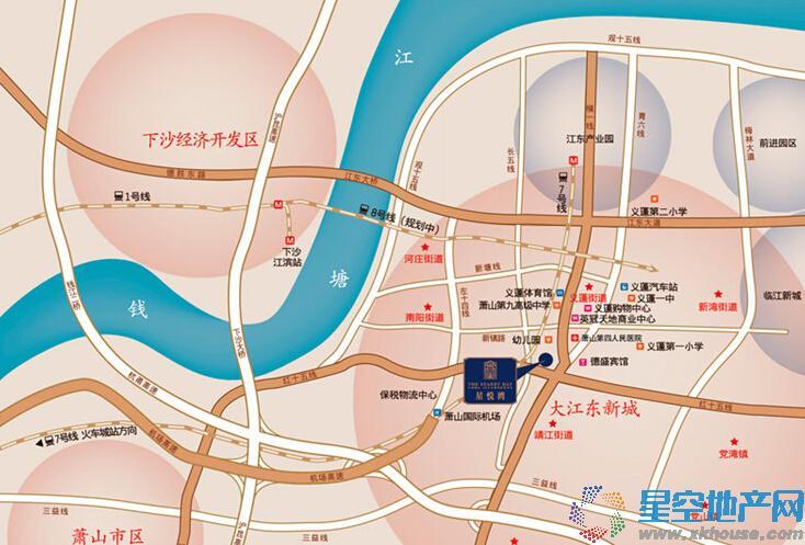 星悦湾交通图