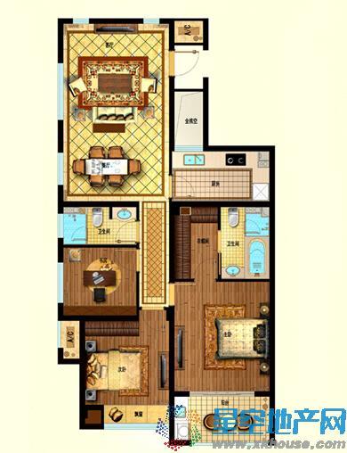 星悦湾三室二厅二卫