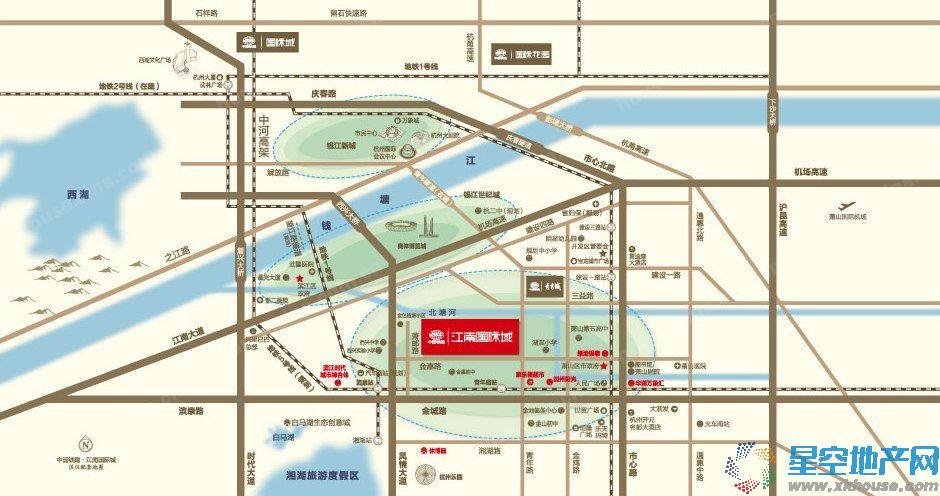 中国铁建·江南国际城交通图