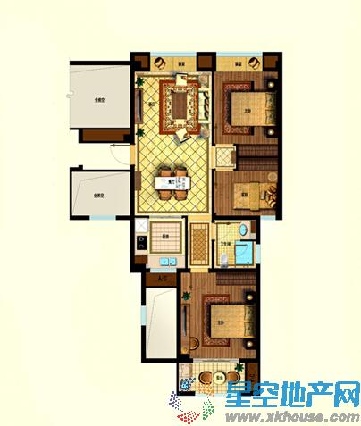星悦湾三室二厅一卫