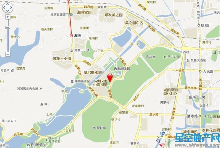 湘湖居交通图