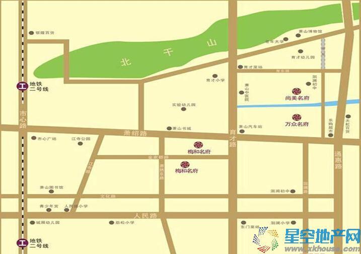 尚美名府交通图