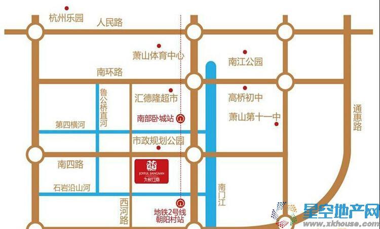 九悦江南交通图