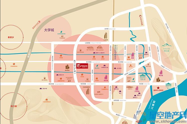 富阳宝龙城市广场交通图