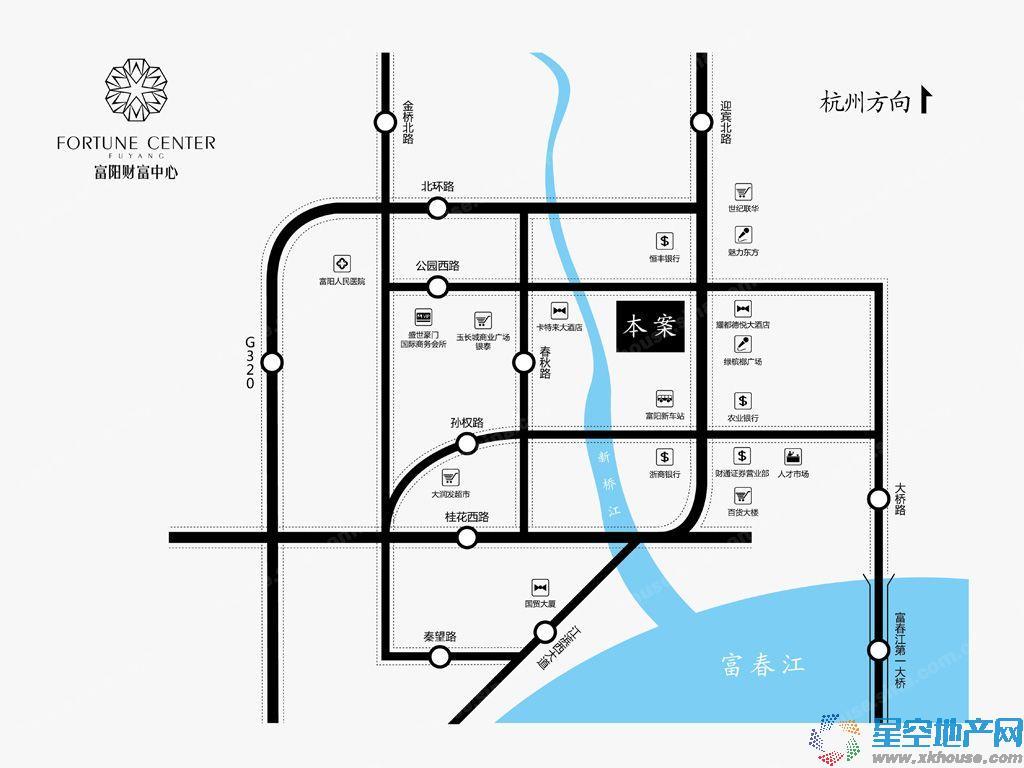 富阳财富中心交通图