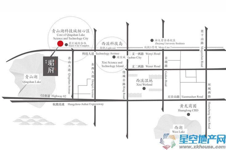 中天珺府交通图