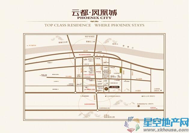 云都凤凰城交通图