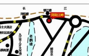 浔阳江畔交通图