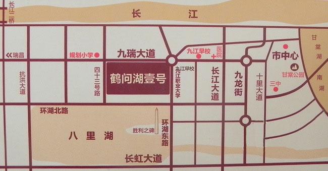 鹤问湖壹号交通图