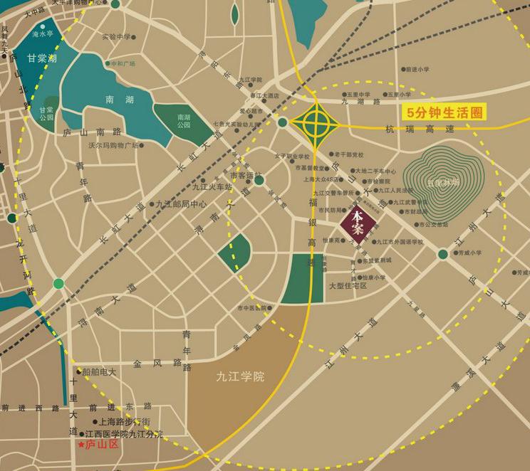 东方紫薇城交通图