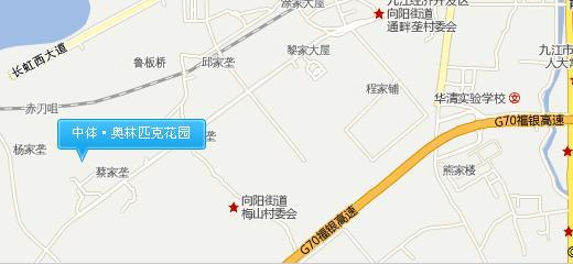 中体奥林匹克花园交通图