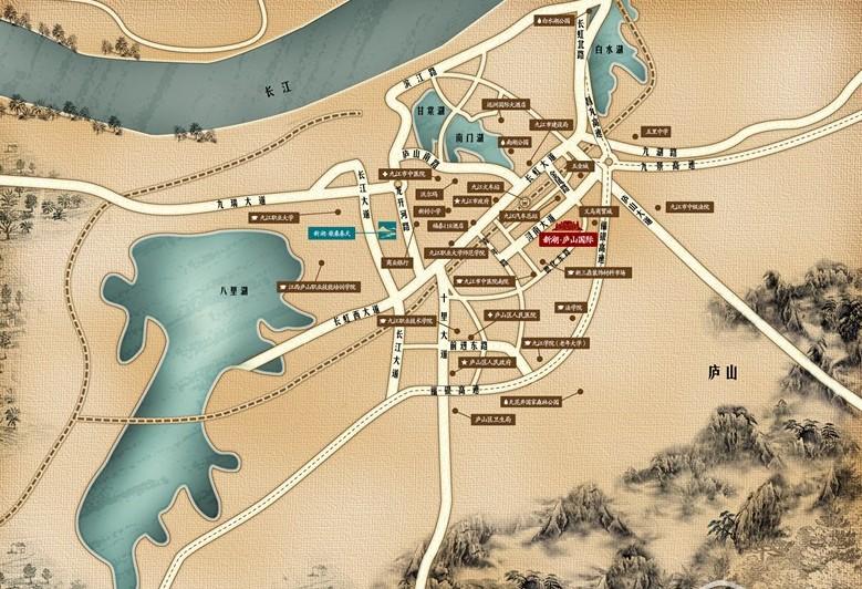 新湖·庐山国际交通图