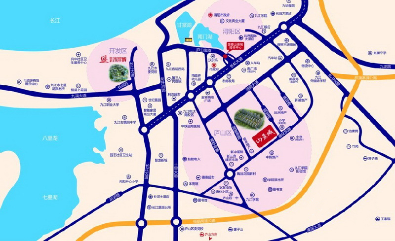 国豪山景城交通图