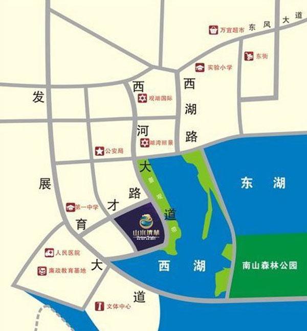 山水清华交通图