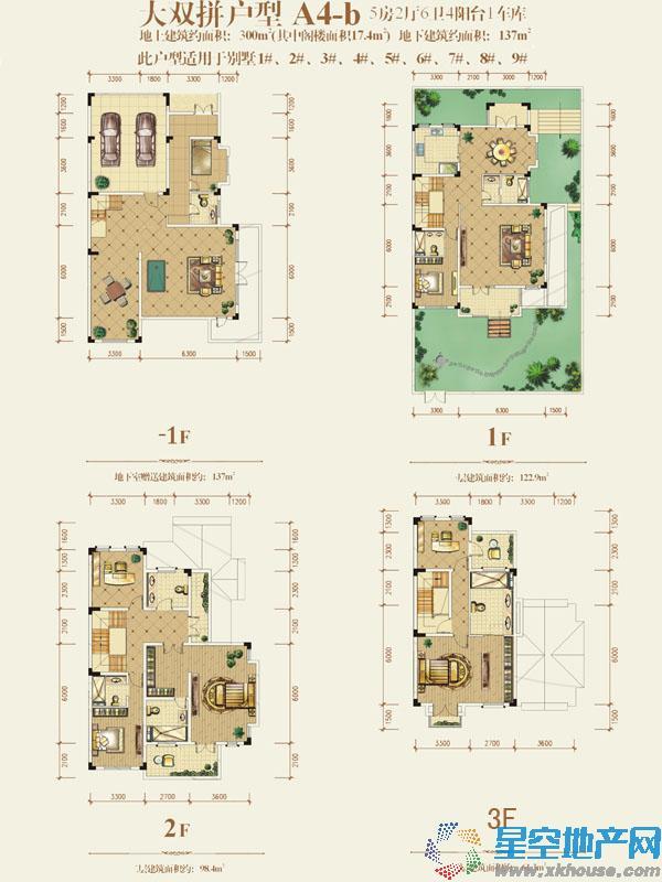 茂丰·半山溪谷五室以上二厅更多