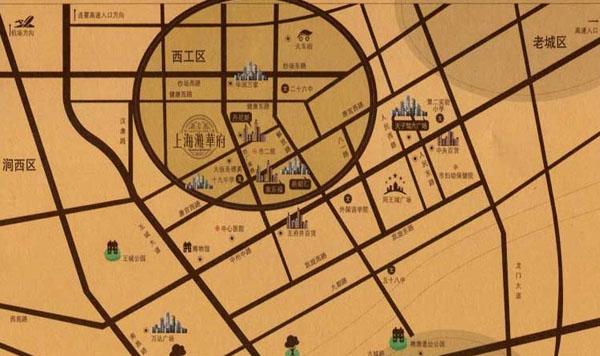 上海滩华府交通图