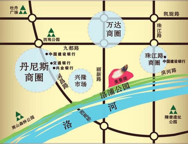 美景阁交通图