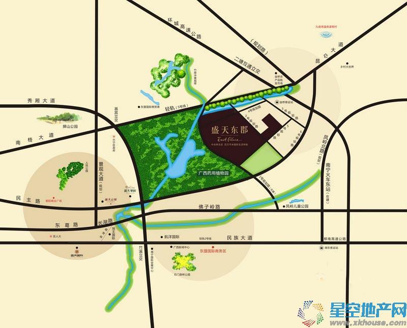 盛天东郡|天悦交通图