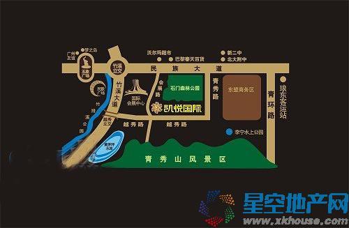 天昌凯悦国际交通图