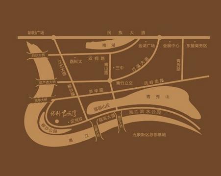 保利·君悦湾交通图