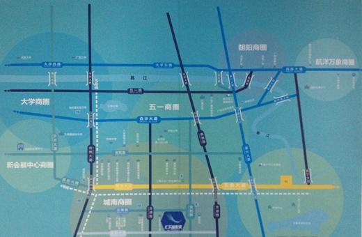 汇东星世界交通图