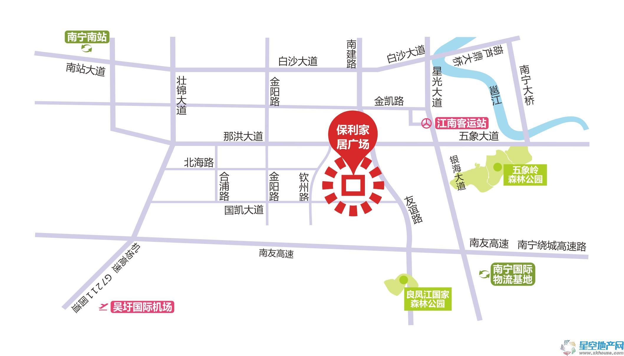 保利建材装饰家居广场交通图