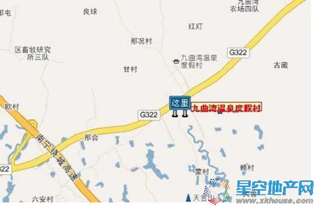 国悦·九曲湾交通图
