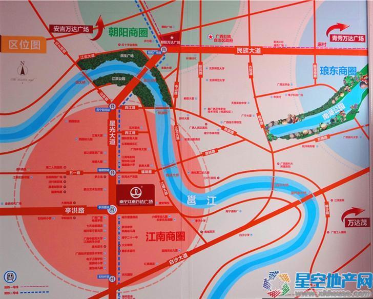 江南万达广场交通图